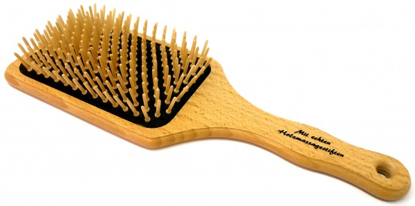 Paddle-Pneumatic Brush with Wooden Pins