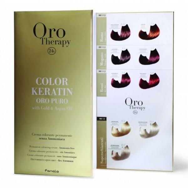 Oro Puro Therapy Color Keratin Farbkarte groß