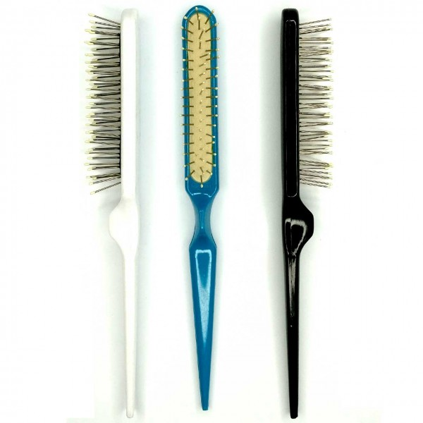 Wired Backcomb Brush; 3-rowed