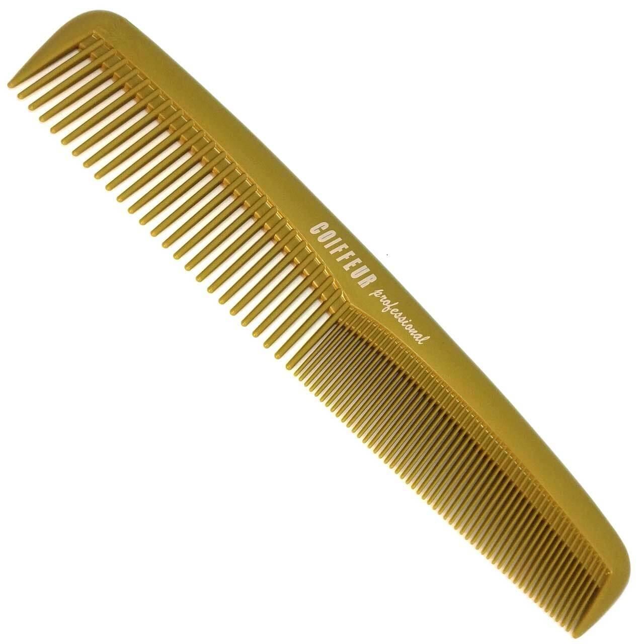 """Frisierkamm klein 7,5"""""""" (19 cm) hergestellt aus DELRIN - Farbe: GOLD"""